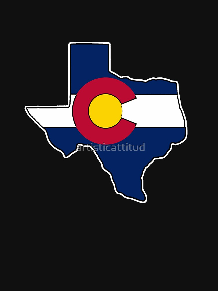 Texas outline Colorado flag by artisticattitud