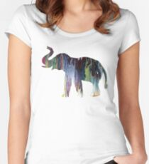 Elephant art Women's Fitted Scoop T-Shirt