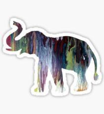 Elephant art Sticker