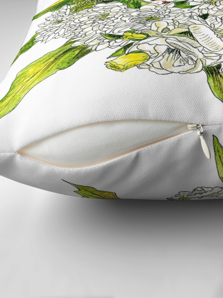 Alternate view of Charlotte's Bouquet Throw Pillow