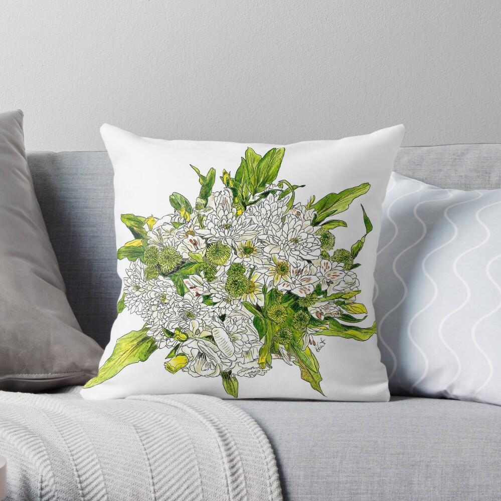 Charlotte's Bouquet Throw Pillow