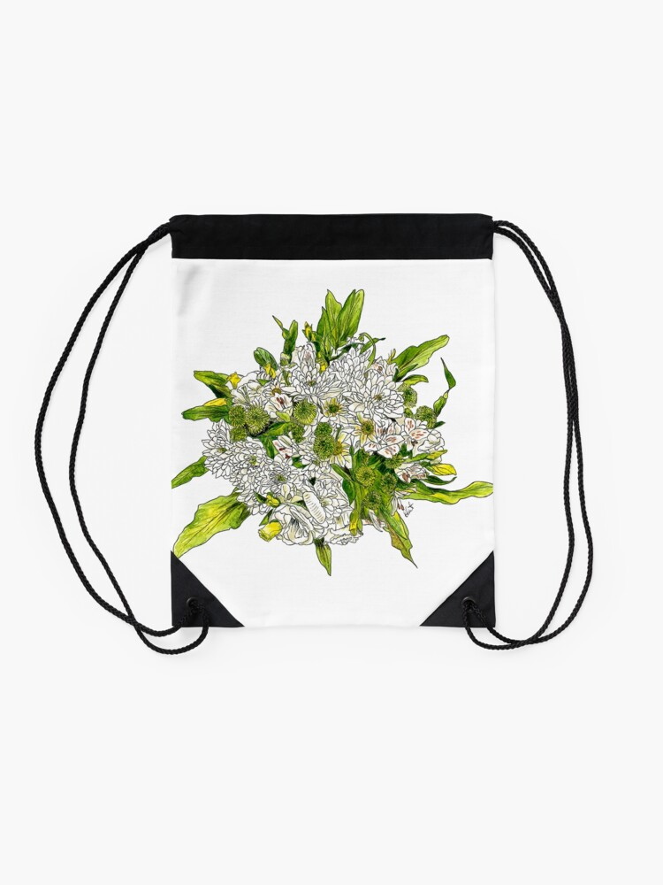 Alternate view of Charlotte's Bouquet Drawstring Bag
