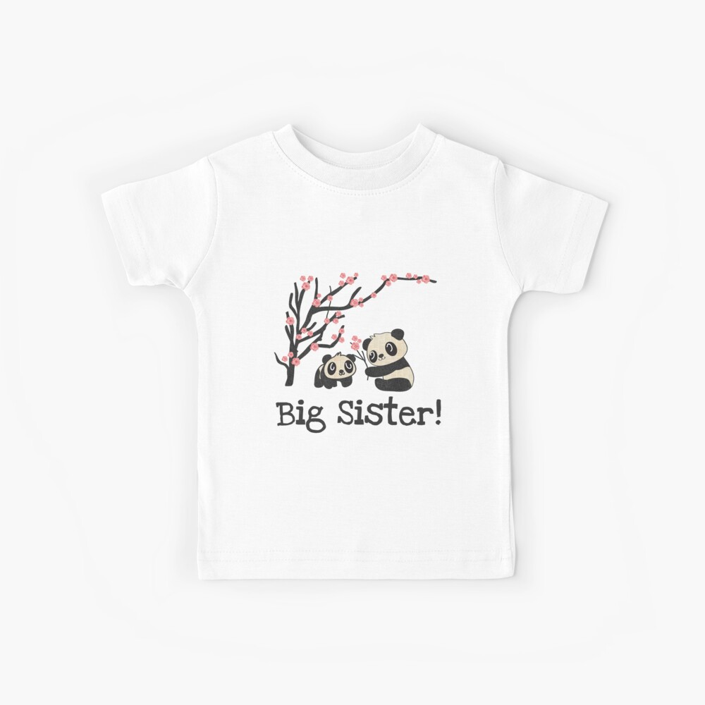 Panda trägt große Schwester Kinder T-Shirt