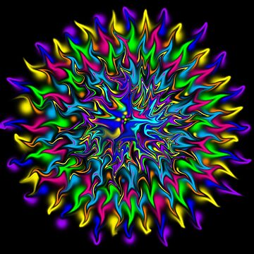 Psychedelic Mandala by aliciacounter