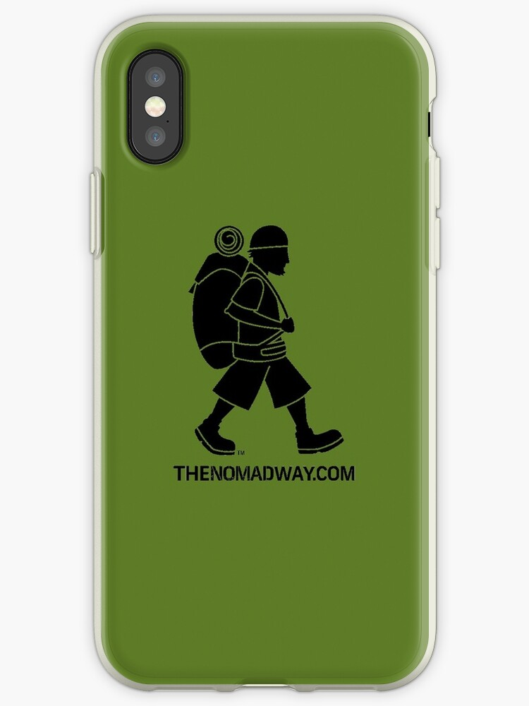 Phone Case (Black on Green) The Nomad Way by TheNomadWay