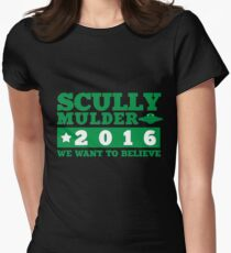 Scully & Mulder Campaign 2016 Women's Fitted T-Shirt