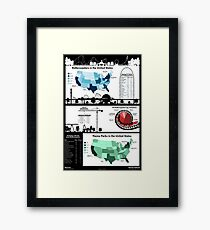 United States Rollercoaster & Theme Park Infographic Framed Print