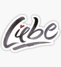 Liebe Love Hertz Heart Schönschrift Schöne Schrift Calligraphy Lettering Sticker