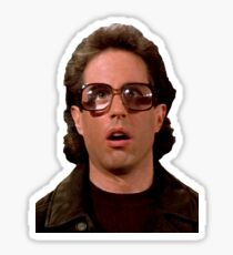 Jerry Wearing Glasses To Fool Lloyd Braun Sticker