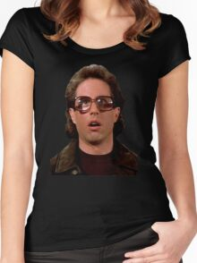 Jerry Wearing Glasses To Fool Lloyd Braun Women's Fitted Scoop T-Shirt