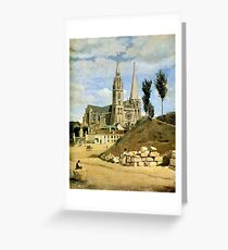 Jean-Baptiste Camille Corot - Chartres Cathedral, West Facade Greeting Card