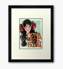 Ozma The Great And Powerful Framed Print