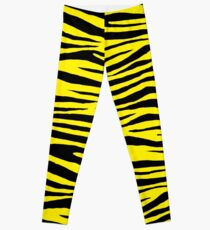 0103 Canary Yellow or Yellow (Process) Tiger  Leggings