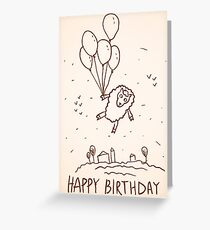 Funny sheep with balloons Greeting Card