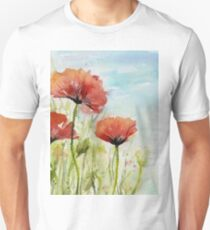 Red Poppy Watercolor T-Shirt