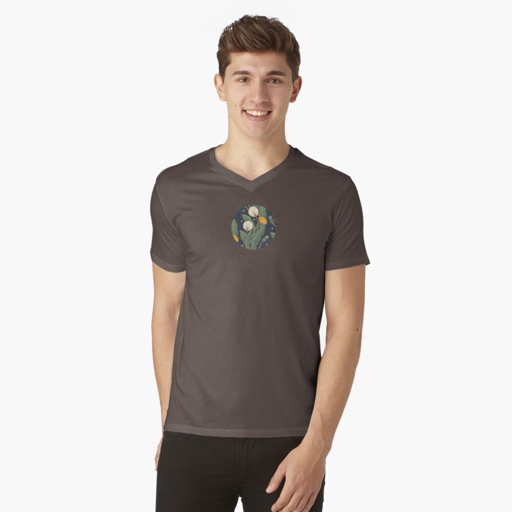 patrón transparente de diente de León Camiseta de cuello en V