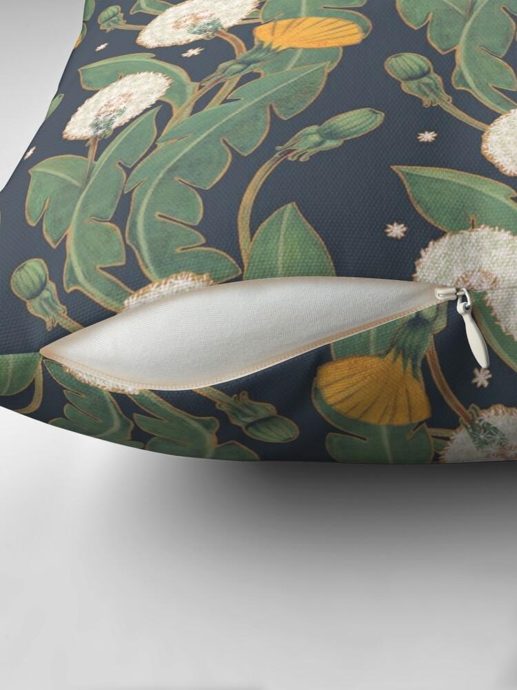 Alternate view of dandelion seamless pattern Throw Pillow