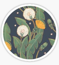 dandelion seamless pattern Sticker