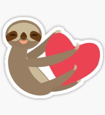 Sloth sitting with a heart Sticker