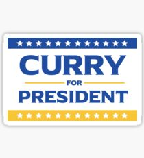 Curry for President Sticker
