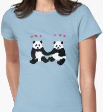 Panda Love Womens Fitted T-Shirt