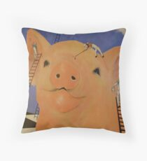 We Should Paint a Big Baby Pig Throw Pillow