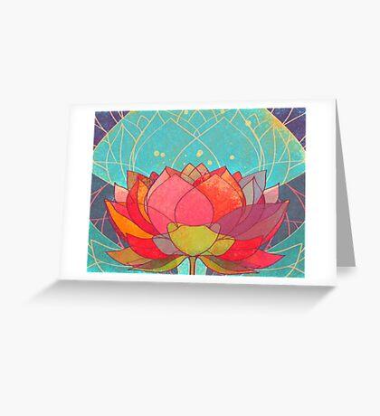 space lotos Greeting Card
