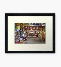 Colorful Korean Marketplace Framed Print