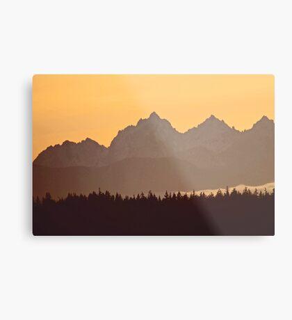 southern olympic mtn sunset, washington, usa Metal Print
