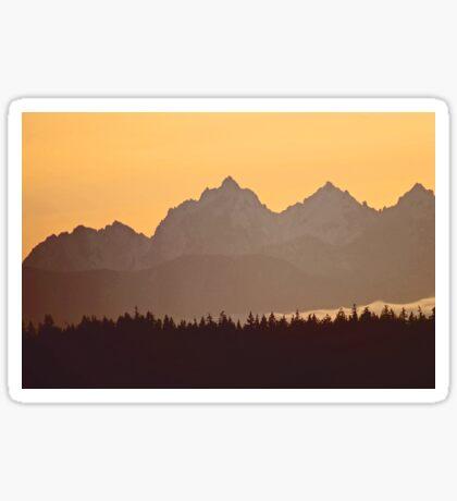 southern olympic mtn sunset, washington, usa Sticker