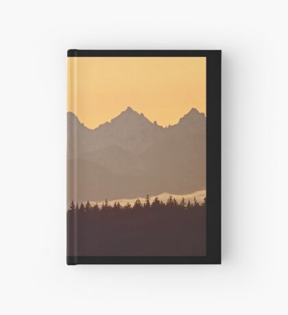 southern olympic mtn sunset, washington, usa Hardcover Journal