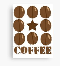 Coffee beans funky coffee design Canvas Print