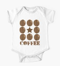 Coffee beans funky coffee design One Piece - Short Sleeve