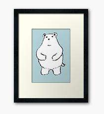 Shy Bear. Framed Print