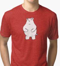 Shy Bear. Tri-blend T-Shirt