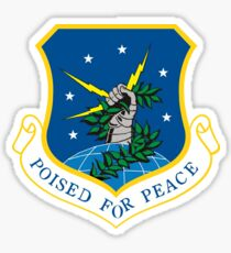 "91th Missile Wing ""Poised for Peace"" Sticker"