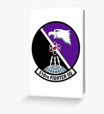 """510th Fighter Squadron """"Buzzards"""" - Aviano AB Greeting Card"""