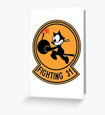 """VFA-31 Strike Fighter Squadron 31 """"Tomcatters"""" Greeting Card"""