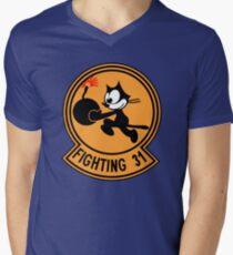 """VFA-31 Strike Fighter Squadron 31 """"Tomcatters"""" Men's V-Neck T-Shirt"""