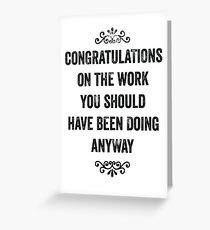 Employee greeting cards redbubble employee appreciation snarky card greeting card m4hsunfo