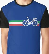 Bike Stripes Italian National Road Race Graphic T-Shirt