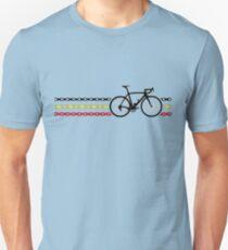 Bike Stripes Belgium - Chain Unisex T-Shirt