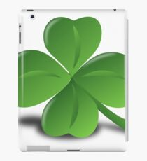 Four leaf clover glazing iPad Case/Skin