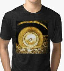 Vintage old wheel of classic car Tri-blend T-Shirt