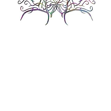 Tribal Rainbow Butterfly by Packrat