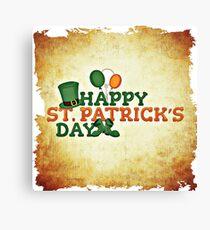 Happy Saint Patrick's day celebration Canvas Print