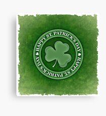 Happy Saint Patrick's day clover leaf Canvas Print