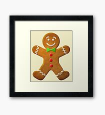 Gingerbread man Framed Print