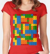 plastic blocks Women's Fitted Scoop T-Shirt