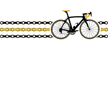Bike Stripes Yellow/Black - Chain by sher00